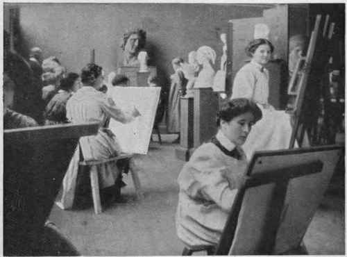 Drawing class at wokr
