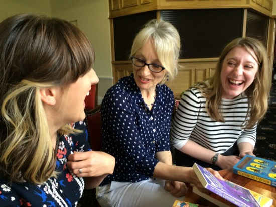 Having a laugh with Kate Pankhurst and Helen Moss - photo by Robin.